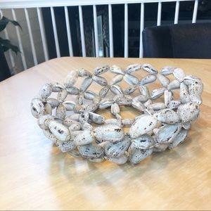 Vintage shell basket